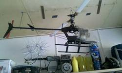 i have an r/c gas helicopter for sale... all metal and very large.....many extra parts...motor..blades..chargers starter...etc...will look at interesting trades as well   500obo