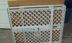 white gate good for children or pets very good condition withsuction cup fit all doors