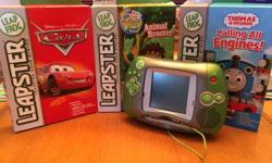 (Near) Mint condition Gen 1 2003 Leapster system. Comes with three games, shown in the photos below. Game cartridges are packed in original boxes, with original manuals. Requires 4x AA batteries. Loved this thing when I was little! Now that I'm older,