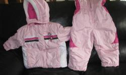 Great and warm pink snow suit.  Excellent condition....no ripes....clean.....from a smoke-free home.  Gently used.      No emails.....please call 9611430.....check out my other ads!