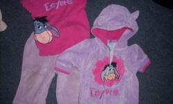 Eeyore Gift set - includes Shirt, pants and sweater (features ears) - $10 Piglet Gift set - includes headband, hat (with ears), diaper shirt, pants and sleeper - $10   Please email me with what you are interested in. The more you choose the better the