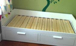 Drawer chest $50 Nightstand $30 Ikea Brimmes Daybed frame, used 2 yrs: $100. Price new: $339. Buyer has to pick up.