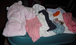 CONSIST OF PANTS, TEES, LONG SLEEVES, SLEEPERS, ONESIES,TRACK SUIT, JEANS SET A TOTAL OF 38 ITEMS ASKING 25.00 LOOKING FOR QUICK SALE SURREY