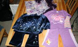 Lot of girls size 24 month clothing, Smoke free and pet free home. 2 two piece outfits (one Backyarigan and one a velour blue flower), 1 dress, 2 two piece jammies, 1 pj bottoms, 2 pair of overalls, 3 sweaters, 1 button up sweater and 4 pants