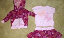 Buy 3 $5 items, get 1 free!   Excellent condition!   3pc outfit from Baby Guess includes shirt, skirt, and matching jacket with hood   Size 3-6 months   Smoke-free home   Pickup only in southeast Barrie