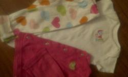 picture 1- 3-Piece layette set $1.50 picture 2- Short oneise $0.50       prices as listed or $1.50 for the lot
