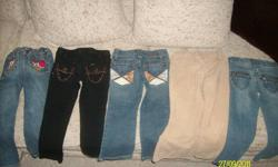 Good condition girls name brand jeans *Rocawear-Size 4T* *Gymboree-Size 4T* *2 B Real-3T fits like a 4t* *Guess-4T* *Princess Girl-4T* asking $20 for all or $5 per pair *pickup in Elmwood* See My Other Ads