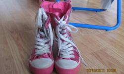 Girls Childrens Place high top sneakers size 11, in great condition (a bit dirty though). From smoke free home.   $8