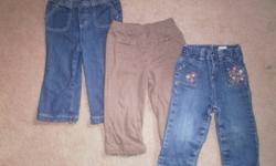 Lot of girls clothing size 18 months. 3 Pairs of Pants/Jeans 2 Outfits 1 Long Sleeve Top 2 Sweaters Check out my other ads.