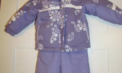 For Sale   Girls 2 pc.  Purple COLUMBIA Snow Suit in LIKE NEW condition.  Jacket is reversible.  Snow pants have adjustable shoulder straps.  Size 24 months, asking $40.00