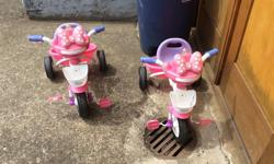 Girls tricycles. All sounds work. In great shape. Decals faded . $75 for both. Firm on price