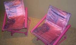 Two fold away kids chairs in great condition!! $15.00 for both...