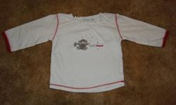 Girls white shirts, size 9 months.  In VGUC, minor washwear, no rips or stains.   Baby Mexx white shirt with red trim and a Christmas design Ralph Lauren short-sleeved white shirt with an orange lined collar.   From a clean, non-smoking, pet-free home.