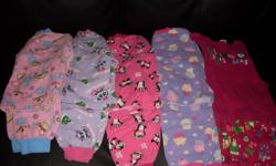 One 2 piece set of pink Christmas PJs from Old Navy, size 3 Four 2 piece sets (2 pink/2 purple)  PJs from Walmart, size 4.   Take all 5 sets for $10. Please call 604-588-5580 if interested.