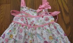 Very cute! a little pouffy. candy deco. matching dress for favourite baby doll. not shown in picture. size 3T asking $8 call or email thanks Meghan 658-4719