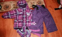 I am selling my daughter's snowsuit from last year.  It is in excellent condition and is from Please Mum.  Its was only used for one winter.  The mitts and hat match as well.  Asking $40.00 or best offer.  From a smoke free and pet free home.  Check out