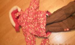girls snowsuit with feeted booties good shape Size 18 months $20.00