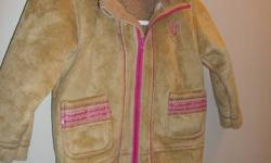 excellent condition brown and pink coat $15( size 4-5 years) girls pink and white double side jacket $5 (6-12 months) Only worn a couple of times Smoke free home. pet free home