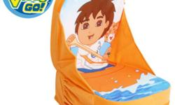 This Go Diego Go! Backpack Chair is the ultimate kids accessory. Kids love anything that converts into something else, and what better than a backpack that transforms into a chair? With just a few zips the great looking backpack turns into a comfy chair.