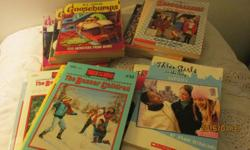 Titles are Goosebumps, Boxcar Children, Babysitters Club and Three Girls in the City. All books read by granddaughters. In good condition.