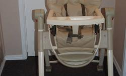 High Chair is in good condition....it also have 2 feeding trays which are removable ....and also have  ultra compact easy fold, for when it is not in use.