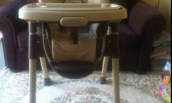 Graco highchair for sale -Compact fold -Two removable dishwasher safe trays -Three or five point harness -Height adjustable -From smoke free home This ad was posted with the Kijiji Classifieds app.