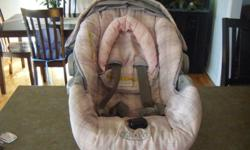Beautiful Grey and Pink Infant Car Seat, 0-22 lbs. In excellent Condition. See pics. Call 242-2427