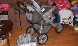 For sale - one Graco Jogging Stroller.  Excellent condition (barely used).  Paid over $300.00 for this stroller when new, plus taxes.  Selling for $200.00.  Grey in color.  It folds up very nicely for travel.  You can take it anywhere!