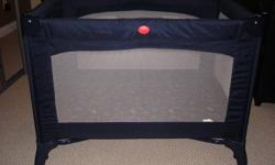 This is in perfect condition.  Smoke free home. Very clean. Navy Blue and has been used 3 times.  Very easy to assemble. Stores perfectly in a compact carry bag.