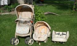 We have the whole Graco Snugride infant car seat, car seat base and Stroller.system for sale for $60.00.  It is in used condition but  is clean and works wonderfully.  Car seat was manufactured in July 2008 so the car seat should be good for another 2 to