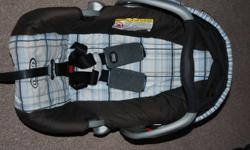 Good condition and never been in an accident. Good for up to 22 lbs and 29 inches. Expiry date is April of 2014. Price is firm - please call 956-9552.