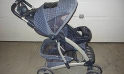 Graco stroller, great condition, easy to push, has a spot of drinks/keys/money ect. 5 point harness, large storage underneath, folds down, wheels lock, seat reclines.  Smoke and pet free.  Check out all my other ads as we are getting rid of our baby