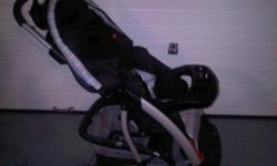 Stroller with infant car seat and base for the car. Never been involved in an accident.  All are in good condition.  The stoller has a few nicks in the fabric from taking it in and out of the trunk.  The expiry is December 2014.  You are welcome to come