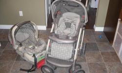 Graco Stroller and Car seat with base - willing to sell separate or as a set   Travel System in great condition, stroller was only used for 1 year, then we needed a double stroller.  Car seat is for babies up to 30 lbs!   Asking $100 ono for the set (paid