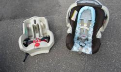 Complete Graco Travel System with Car Seat, Stroller and Base.   Gently used for about a year. Accident, smoke, animal free. Car seat is in excellent like new condition. Stroller is in good used condition. There is a small tear (About 1 inch long) on the