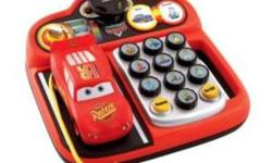 Disney pixar lightning mcqueen educational phone so fun! Drive and learn with Lightning McQueen! Desktop style phone packed with essential pre-school learning. Three great activities, light-up wheel buttons, turning phone book pages and Lightning McQueen
