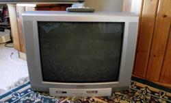 """20"""" colour Toshiba box TV model # 20A46C for sale - works and is in excellent condition. Comes with glow in the dark remote control. Only want $40. (Check out the full specs of this model on-line using the model#) Would be great for the kids room or as a"""