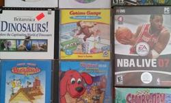 Our kids are growing up! We have a good selection of gently used preschool and school age CD-Rom games. These can be used on your home computer. There is a good variety including favorites like Clifford the Dog, Curious George, Cat in the Hat and school