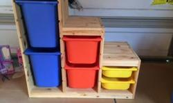 Get control of the mess Great storage unit for toys - comes with 6 bins