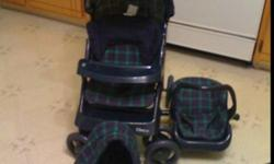 For Sale I am selling my Greco toy doll stroller which is like new. It functions just like a real stroller but is about 1/3 the size. It comes with stroller, bunting bag and car seat attachments. I am asking $40 but I am negotiable. If interested, call