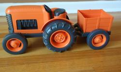 Green Toys tractor and wagon that easily hitches up. Like new condition. Purchased from Chapters. Smoke free home. Pick up only; no delivery. Refer to my other toy ads as well.