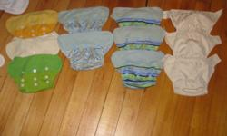 Up for sale is 11 Grobaby shells (3 snap, 7 velcro), 25 soakers, and 14 boosters.  This is all you would need to cloth diaper your baby!! I would prefer to sell everything in one lot, but I've also listed individual prices as well. The shells are in good