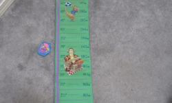 Winnie the Pooh growth chart with Velcro honey pot height marker. New, unused