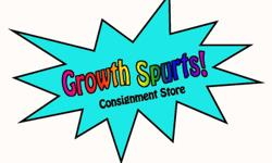 We are your community's green solution to the high cost of having children. We offer fine quality used maternity & children's clothing & equipment. All items are recycled from within the community and sold on consignment. GROWTH SPURTS CONSIGNMENT STORE