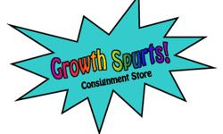 GROWTH SPURTS CONSIGNMENT STORE  We are your community's green solution to the high cost of having children. We offer fine quality used maternity & children's clothing & equipment. All items are recycled from within the community and sold on consignment.