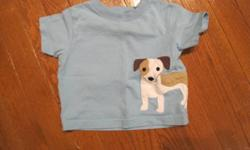 Gymboree dog T-shirt; size 6-12 months.  From smoke free home; see sellers' other ads.