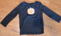 Like new Gymboree Halloween sparkly pumpkin shirt.  Size 3.  From smoke free home; see sellers' other ads.