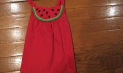 Gymboree watermelon halter top size 2T with NEW matching shoes size 8  and jean shorts.  From smoke free home; see sellers' other ads.