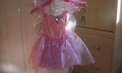 Girls, size 2T pink princess costume with wings.  Never worn.