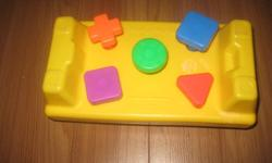 selling a hammer toy $3 matertial book $1 mega blocks stacking toy all for $2 baby toys all for $3